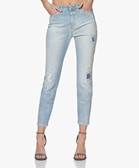 Closed Baker Cropped Distressed Jeans - Light Blue