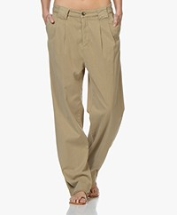 ba&sh Paige Tencel Loose-fit Chino - Kaki