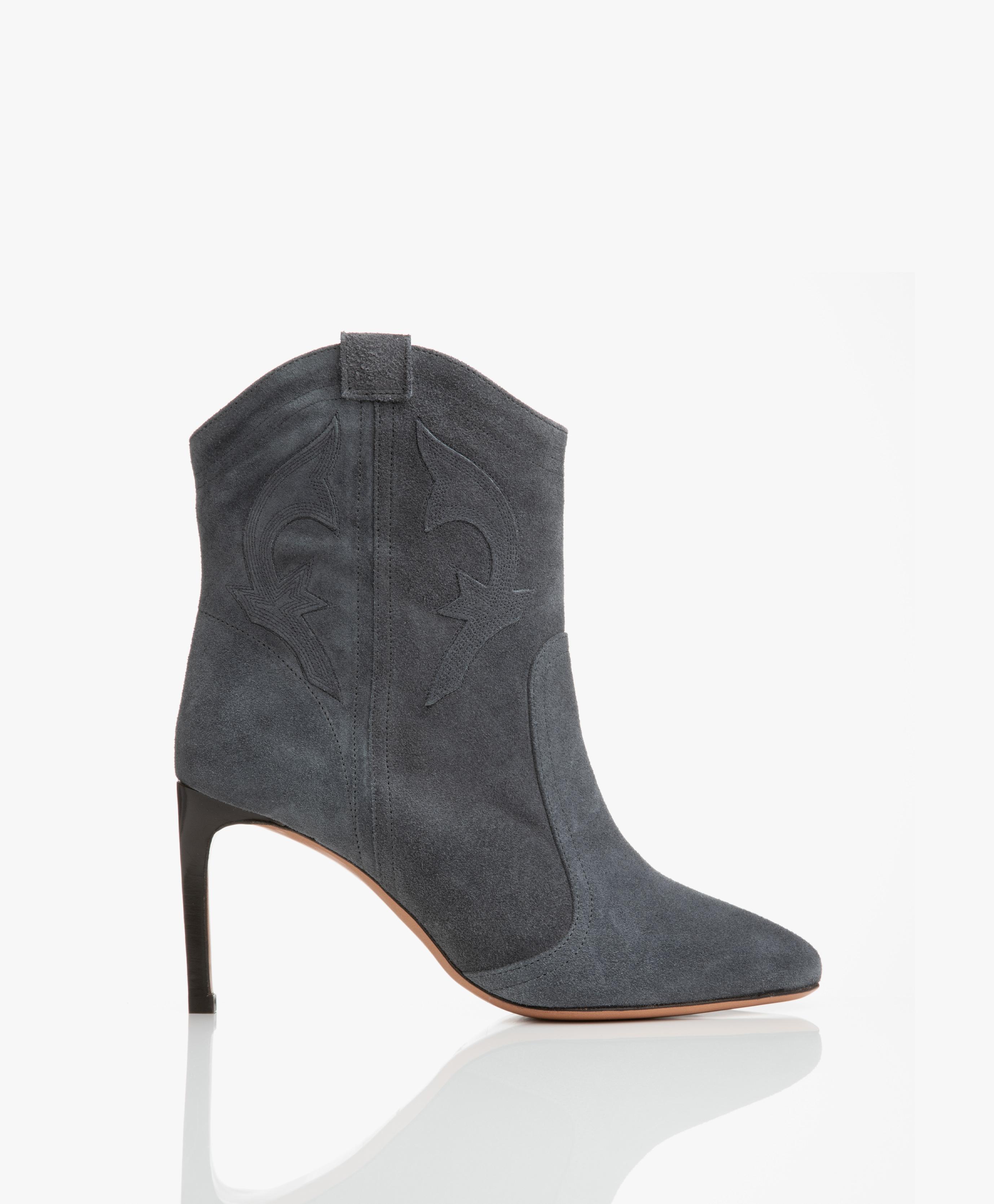 Beste ba&sh Caitlin Suede Ankle Boots - Blue Grey - caitlin bleugris LU-81