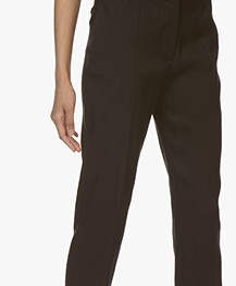 Joseph Zoom Linen Stretch Pants - Black