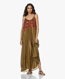 Mes Demoiselles Dalila Pure Silk Dress - Combo Green