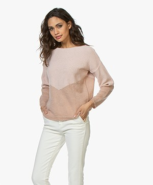 BY-BAR Billy Duo-knit Pullover - Misty Rose