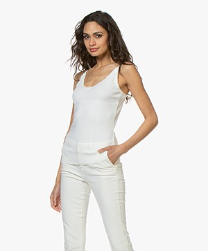 BY-BAR Iris Pointelle Singlet  - Off-white