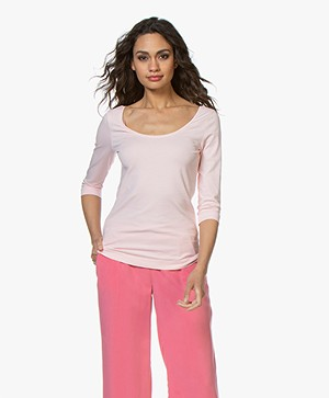 Josephine & Co Cher T-Shirt with Cropped Sleeves - Light Pink