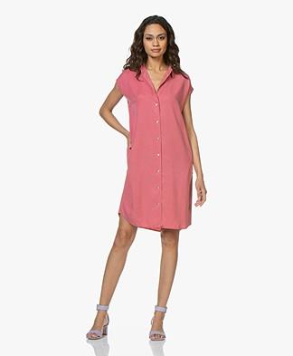 BY-BAR Kiek Lyocell Twill Shirt Dress - Flamingo Pink