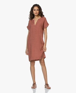 BY-BAR New Gitte Linen Dress - Copper