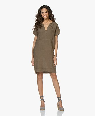 BY-BAR New Gitte Linen Dress - Earth