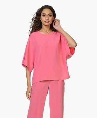 IRO Fiori Crepe Blouse - Candy Pink