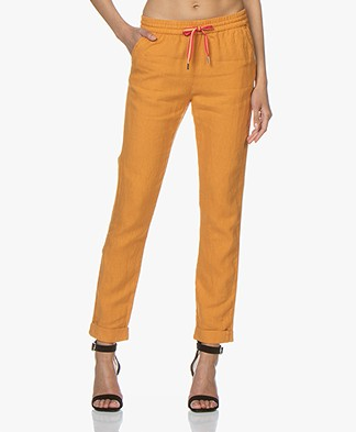 Josephine & Co Cairo Linen Pants - Golden Yellow