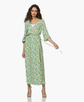American Vintage Totitouk Printed Wrap Dress - Germini