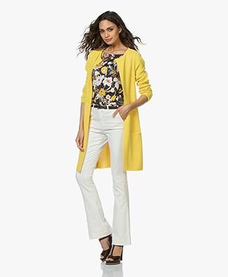 Sibin/Linnebjerg Mary Merino Blend Open Cardigan - Yellow