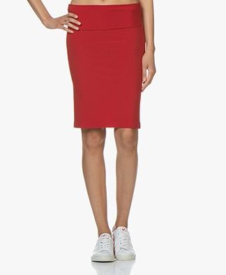 Norma Kamali Tube Tech Jersey Skirt - Red