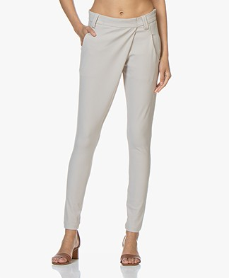 Woman By Earn Earn Tapered Tech Jersey Pants - Sand