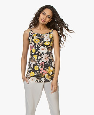 no man's land Viscose Jersey Floral Printed Top - Buttercup