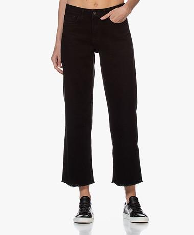 by-bar Mojo Raw-edge Rechte Cropped Jeans - Zwart