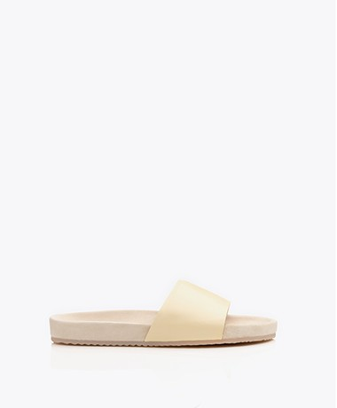 Filippa K Logan Leather Sandals - Vanilla