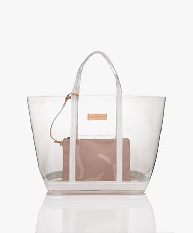 Vanessa Bruno Transparante Shopper - Transparant/Wit