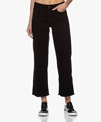 by-bar Mojo Rechte Cropped Jeans - Zwart