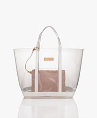 Vanessa Bruno Sheer Shopper - Transparent/White