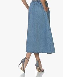 American Vintage Winiboo Denim A-lijn Rok - Blauw