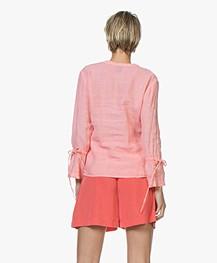 Josephine & Co Carole Linen Blouse - Light Pink