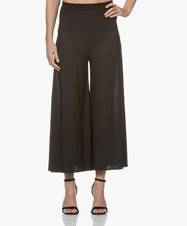 By Malene Birger Wide Leg Pants in Viscose Jersey - Black