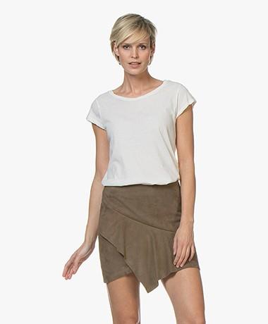 Fine Edge Regular T-shirt met Kapmouwen - Blush
