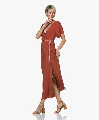 Marie Sixtine Nora Viscose Maxi Dress - Rusty
