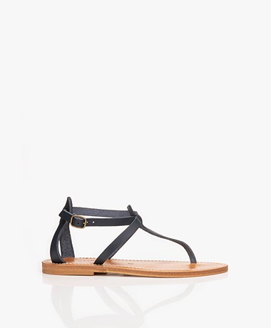 K. Jacques St. Tropez Buffon Leather Sandals - Ocean