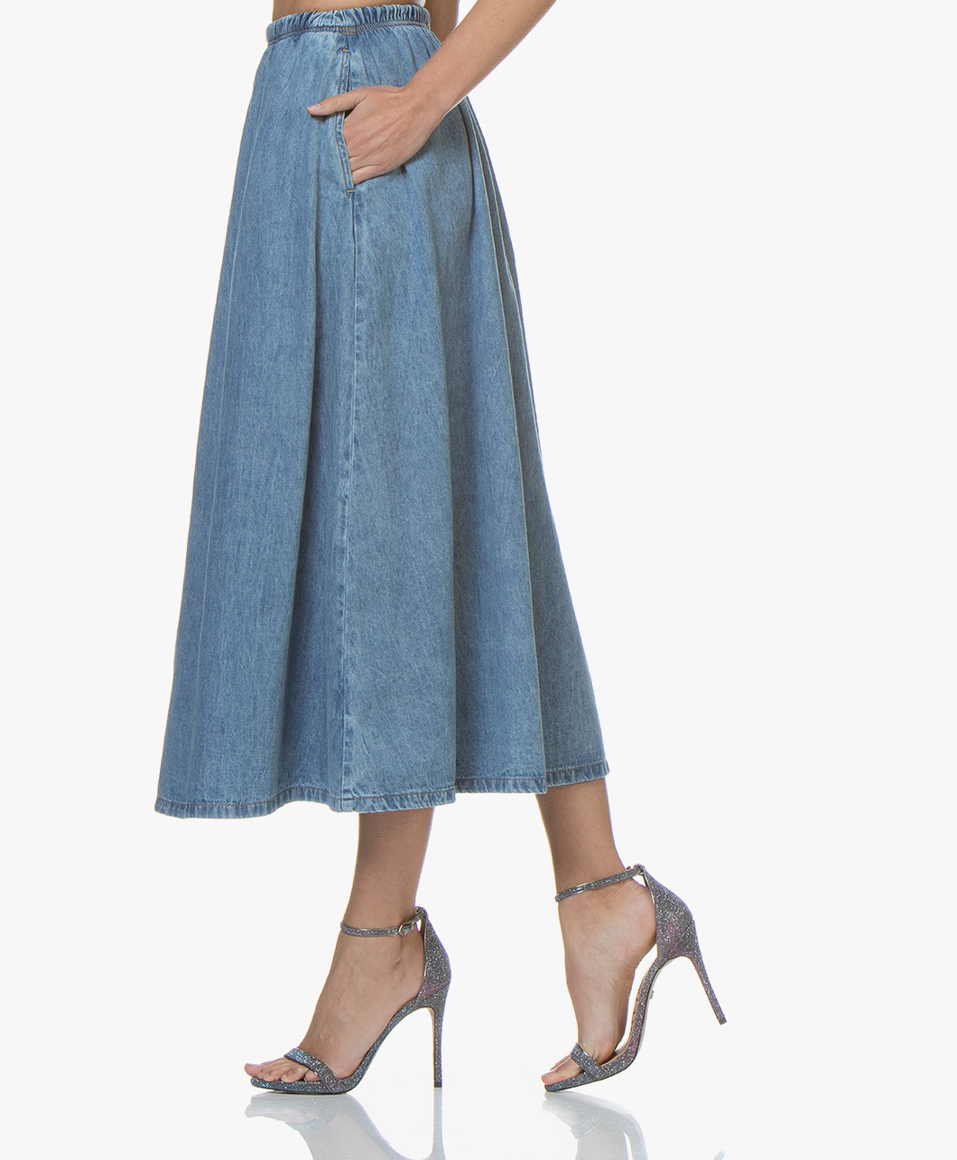 Skirt Blue Line Vintage Winiboo Denim A American jUSLMVpGqz