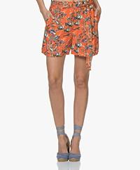 Marie Sixtine Matt Viscose Print Shorts - Sea