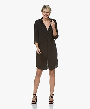 BY-BAR Doppia Muslin Shirt Dress - Black