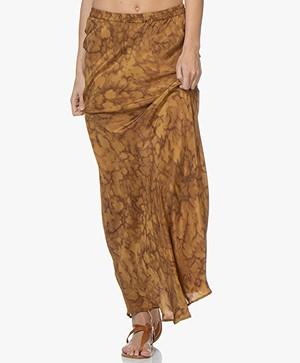 Mes Demoiselles Matador Silk Maxi Skirt - Ocre
