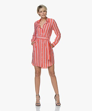 Josephine & Co Ryan Gestreepte Travel Jersey Jurk - Rood