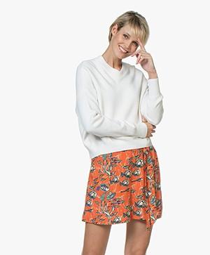 Filippa K Soft Sport Double Knit V-neck Sweater - Off-White