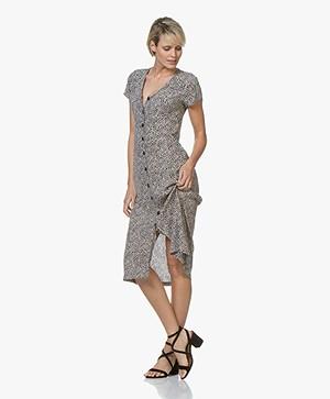 10665faafc7 indi   cold Floral Viscose Button-down Dress - Amapola - vv19mi520 ...