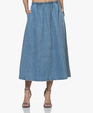American Vintage Winiboo Denim A-line Skirt - Blue