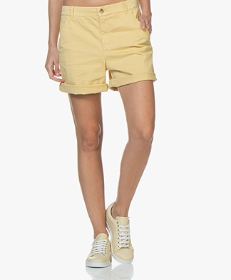BOSS Sichily Stretch-cotton Shorts - Light Yellow