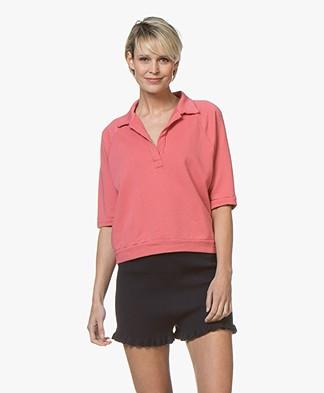 BY-BAR Harper Polo Sweatshirt - Flamingo Roze