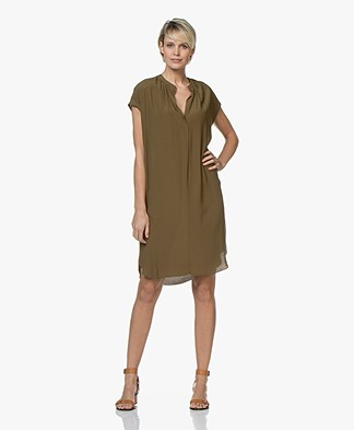 BY-BAR Victoria Crepe Dress - Earth