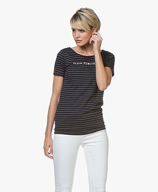 Plein Publique La Police Logo T-shirt - Marine/Zwart