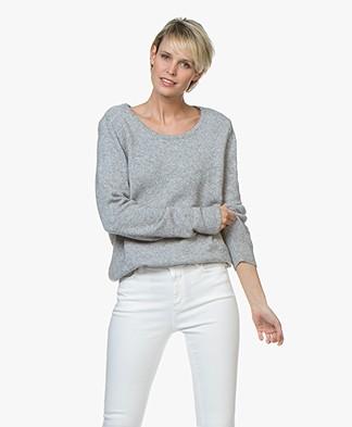 Sibin/Linnebjerg Melfi Sweater with Cashmere - Sweat grey