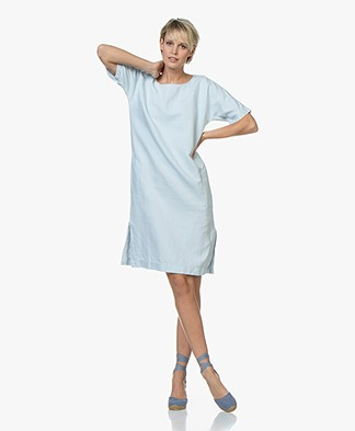 Closed Orchid Linen Blend Dress - Light Blue