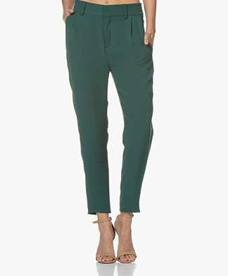 Drykorn Find Tapered Twill Pants - Dark Green