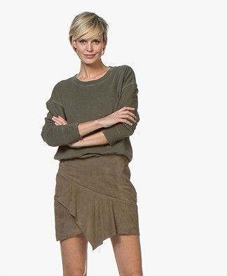 James Perse Relaxed Cropped Sweater - Army