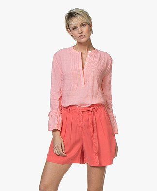 Josephine & Co Carole Linen Blouse - Light Pink