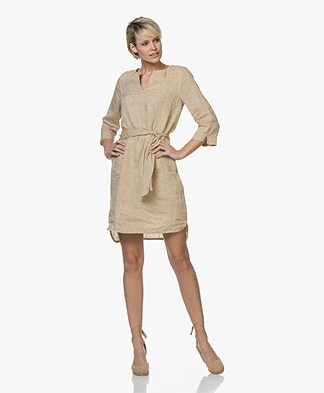 Josephine & Co Cleo Linen Tunic Dress - Sand