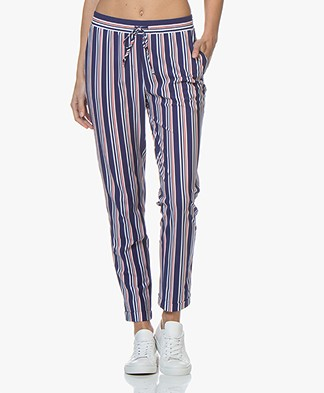 Josephine & Co Ray Gestreepte Travel Jersey Broek - Royal Blue
