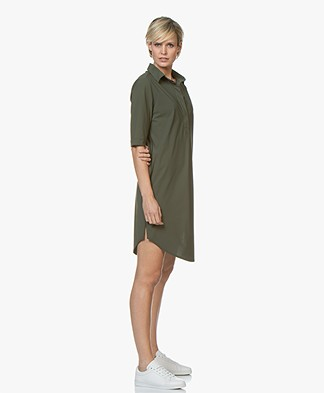 Josephine & Co Roos Travel Jersey Jurk - Army