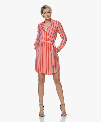 Josephine & Co Ryan Striped Travel Jersey Dress - Red